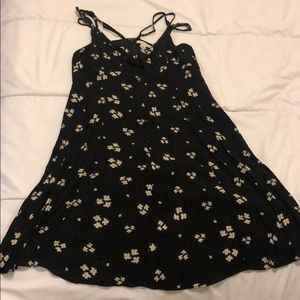 American Eagle Black Floral Dress Size 10